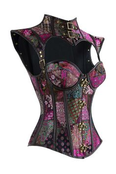 Check out our Atomic Purple Steel Boned Jacquard Overbust Corset with Shrug. https://atomicjaneclothing.com/products/atomic-purple-steampunk-steel-boned-jacquard-overbust-corset-with-shrug