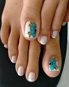 Toe nail art is one of the best ways to make your feet look sexy and interesting. If you are fond of nail art and manicure. Pedicure Designs, Pedicure Nail Art, Toe Nail Designs, Toe Nail Art, Pretty Toe Nails, Cute Toe Nails, Love Nails, Diy Nails, Feet Nails