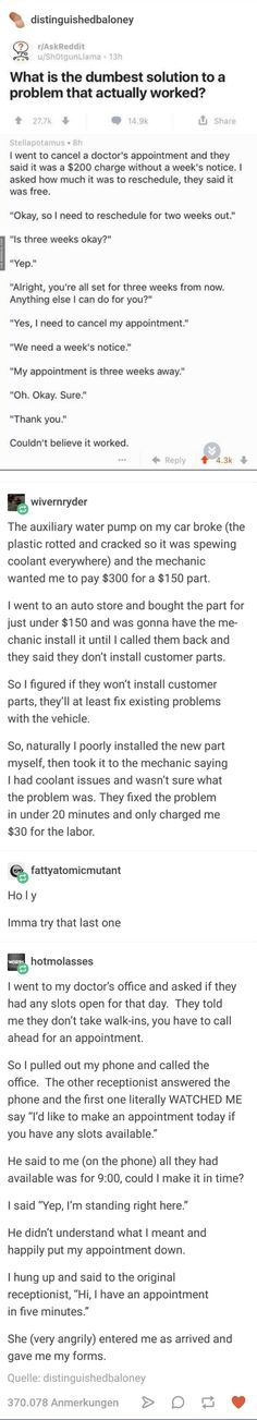Best ways to break the system doctors appointment and car problems - Best ways to break the system doctors appointment and car problems The best image about diy home de - Stupid Funny, Haha Funny, Hilarious, Funny Stuff, Random Stuff, Funny Things, My Tumblr, Tumblr Funny, Funny Quotes