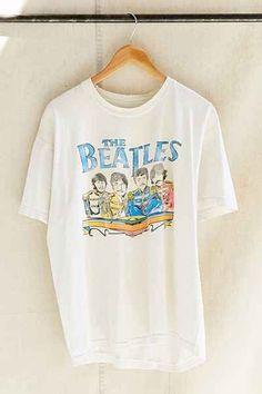 Vintage The Beatles Band Tee - # Beatles Bandit # # # Vintage # Vintage - Kochen - Camisetas Beatles Band, The Beatles, Beatles Shirt, Vintage Band Tees, Vintage Tee Shirts, Retro T Shirts, Vintage Graphic Tees, Graphic Shirts, Neo Grunge
