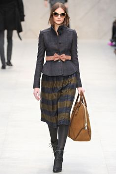 Burberry Prorsum RTW 2012-2013 by Russian Vogue.