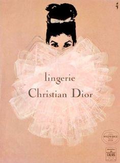 "PG266 ""Lingerie Christian Dior"" Poster by René Gruau (1952)"