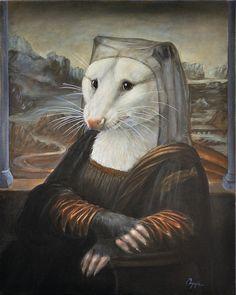 Possum Painting - Mona Possum by Melinda Copper