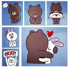 Love conny and brown Cony Brown, Brown Bear, Ika Musume, Cute Love Cartoons, Bunny And Bear, Friends Wallpaper, Umaru, Kemono Friends, Emoji Faces