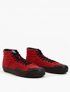 X Vans Red Suede Sk8-Hi Sneakers