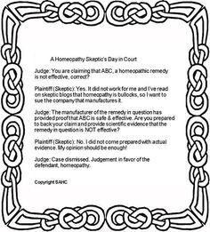 California Court: Homeopath vs skeptic