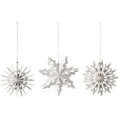 Bring chic style to your Christmas tree with this set of three paper snowflakes from Day Birger Et Mikkelsen. Made from 100% FSC paper, this set contains three...