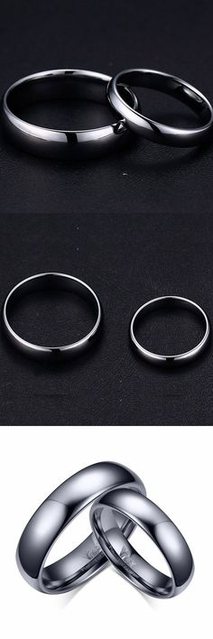 Lajerrio Jewelry Fashion Black Titanium Steel Promise Ring for Couples Black Gold Jewelry, Copper Jewelry, Promise Rings For Couples, Hemp Necklace, Wedding Jewelry Sets, Anniversary Rings, Fashion Black, Fashion Jewelry, Jewelry Making