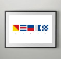 Ocean, Summer, International Maritime Signals, Alphabet Flags, Poster, Maritime Signal Flag, Typography , Instant Download, Home decor. by bluestudio50 on Etsy