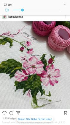 This Pin was discovered by İsm Cross Stitch Heart, Cross Stitch Flowers, Cross Stitch Patterns, Rainbow Pages, Pressed Flower Art, Yarn Wall Hanging, Diy Buttons, Ribbon Work, Mothers Day Crafts