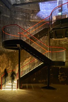 In 2916 Tate Harmer transformed the Grade II* listed shaft into the Grand Entrance Hall of the Brunel Museum, by designing a freestanding, cantilevered staircase to allow public access to the space. The project forms part of the Brunel Museum's plans to widen public awareness of the built legacy of Isambard Kingdom Brunel and London's industrial heritage. Image ©Raftery+Lowe