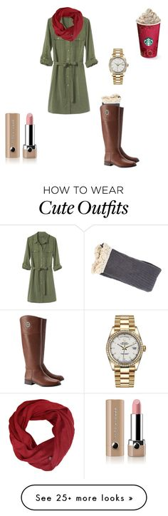 """""""Cute outfit for fall """" by jennamaeve3 on Polyvore featuring Banana Republic, Tory Burch, Rolex and Marc Jacobs"""