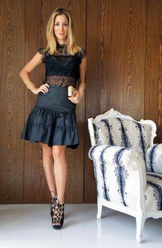 Casual chic!  Look da linda Helena Lunardelli com sandália CS. Like it?