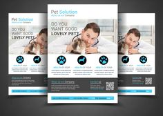 Pet Solution Flyer Template by AfzaalGraphics on Creative Market