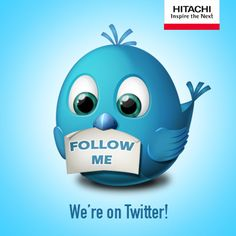 Keep up to date with us on Twitter! Are you following us yet?  Click here to follow: https://twitter.com/Hitachi_Home