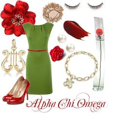 Alpha Chi Omega, created by violetpretty on Polyvore