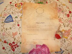 Esta es la tarjeta de invitación de boda de mi sobrino. La temática estaba basada en el Señor de Los Anillos.