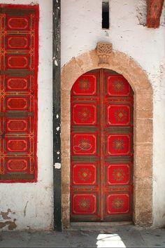 Red door Medina, Morocco