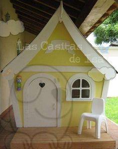 Fotos de Casitas de madera para niños Dog Houses, Play Houses, Pet Hotel, Wooden Playhouse, Baby Princess, Kids House, Ideas Para, Gazebo, Shed