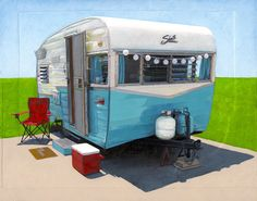 Turquoise Shasta  limited edition archival print by leahgiberson
