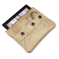 UPCYCLED MAIL SACK IPAD CASE | V-Day