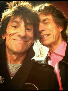 Ronnie Wood Mick Jagger The Rolling Stones