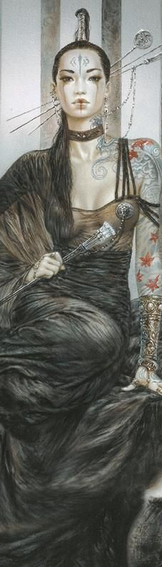 Awesome piece by Luis Royo... I really like his art a lot: it's sexy and elegant…