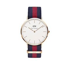 Daniel Wellington Uhr Classic Oxford Nato-blau-rot Herren Textilarmband NEU - http://uhr.haus/daniel-wellington/daniel-wellington-uhr-classic-oxford-nato-blau