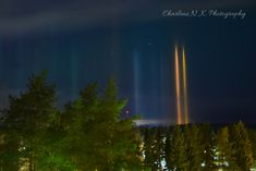 Blissful Solitary Wanderings: Light Pillars on a Winter Night