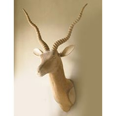 Carved Wood Ibex [W368] - $475.00 : DIGS, Free shipping on orders over $50 :: modern furniture, housewares, decor and gift items.