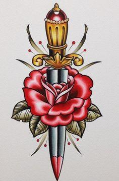 Old School Tattoo Flash | KYSA #ink #flash #tattoo: