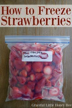 Learn how easy it is to freeze strawberries and use them for smoothies all year long!