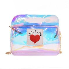Transparent I Love You Mini Shoulder Bag