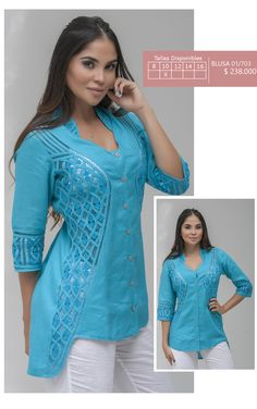 Ref 01/704 Summer Blouses, Western Wear, Blouse Designs, Kurti, Tunics, Tunic Tops, Clothes For Women, My Style, Casual
