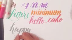 Tutorial: How to Use Regular Crayola Markers to Write Modern Brush Calli...