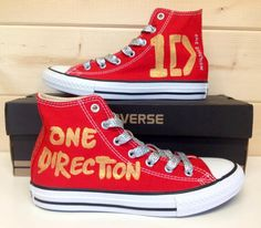 Limited Edition One Direction Converse>>>I need/want these sooo bad! Estilo One Direction, One Direction Shoes, One Direction Fashion, One Direction Merch, One Direction Crafts, 0ne Direction, Harry Styles, Custom Shoes, Chuck Taylor Sneakers