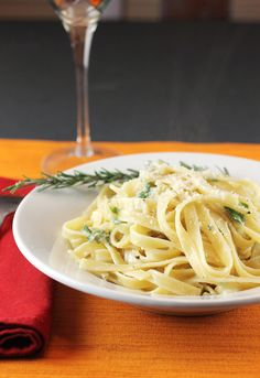 An easy, sensational pasta dish with the bold flavors of roasted garlic, preserved lemon, and rosemary.