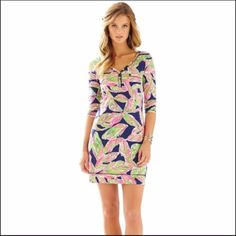 Lilly Pulitzer Palmetto Dress In The Vias Navy Xs