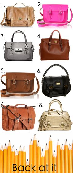 crushing on all these satchels