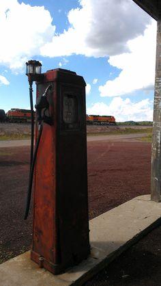 Richfield pump at Pine Breeze Inn, Route 66, Belmont, AZ