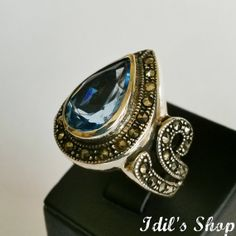 Authentic Turkish Ottoman Style Handmade 925 Sterling Silver Ring by Idil's Shop, $75.00