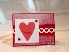 Valentine's Day Card using Creative Memories Watercolor Love