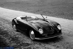 My dream car. This Porsche 356 is the very first real Porsche car created by Ferdinand 'Ferry' Porsche. This prototype two seater open roadster, known as 'Porsche Number ' Luxury Sports Cars, Classic Sports Cars, Sport Cars, Classic Cars, Porsche Panamera, Porsche Autos, Porsche 356 Speedster, Porsche Cars, Porsche Roadster