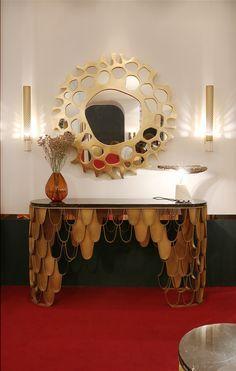 HELIOS MIRROR | Brabbu Accessories | Modern Design | Isaloni 2017 | #brabbumirrors | #homedecor | #interiordesign | more @ http://www.brabbu.com/pressarea/casegoods/?utm_source=pinterest&utm_campaign=svwebmkt2017