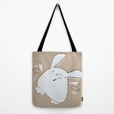 Cute bunny - I believe I can fly Tote Bag by Artemio Studio | Society6