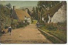 Park Street (formerly known as Water Street), Dunster, Somerset, England. c1922. Some of my ancestors were from Dunster - if you're researching the surname Thomas, do get in touch! esjones <at> btopenworld.com