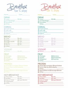 Printable Menu Header Print Onto Brown Type Paper And Put On Each