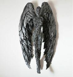 metall engel fluegel draht figur skulptur kunst