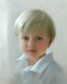 """Petite portrait"" of a boy in oil by a Portraits, Inc. artist"