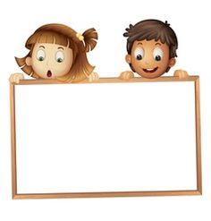 Kids frame vector image on Powerpoint Background Templates, Powerpoint Template Free, Page Borders Design, Border Design, Borders For Paper, Borders And Frames, Cartoon Kids, Cute Cartoon, School Border